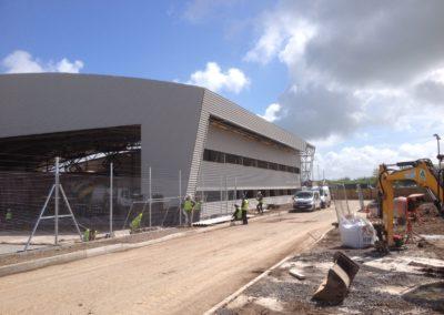 Bristol airport, new hanger